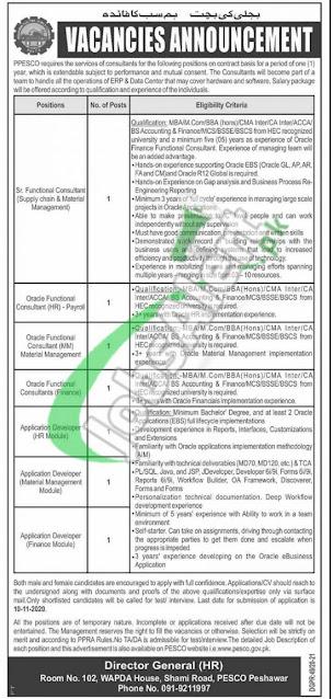 pesco-peshawar-electric-supply-company-jobs-2020-advertisement