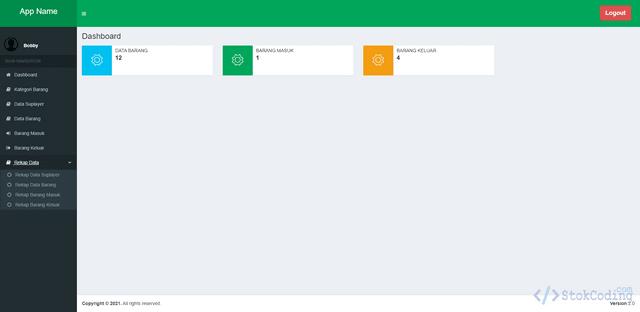 Aplikasi Inventory Barang Berbasis Web (Codeigniter)