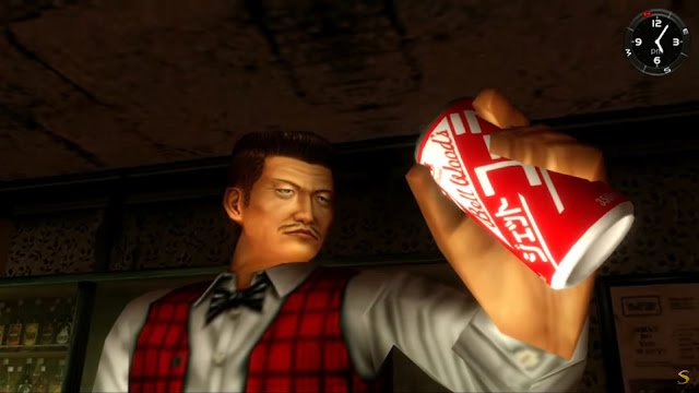 Unused Drink Can Textures in Shenmue