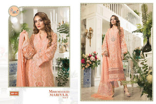 Shree fab Mbrooidered Mariya b vol 7 pakistani Suits wholesaler