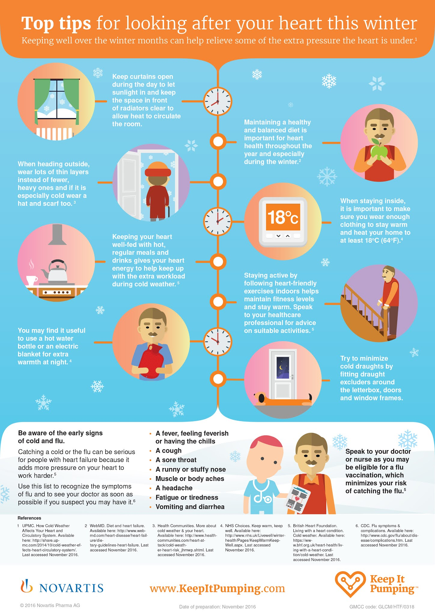 Top Tips For Looking After Your Heart This Winter #infographic