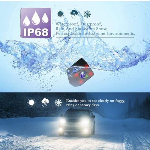 JPP Waterproof Reverse Backup Cameras for Car