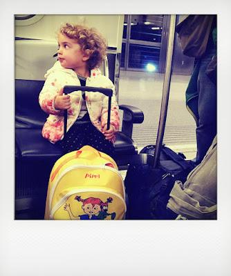 Trolley di Pippi Calzelunghe per bambina di 2 anni