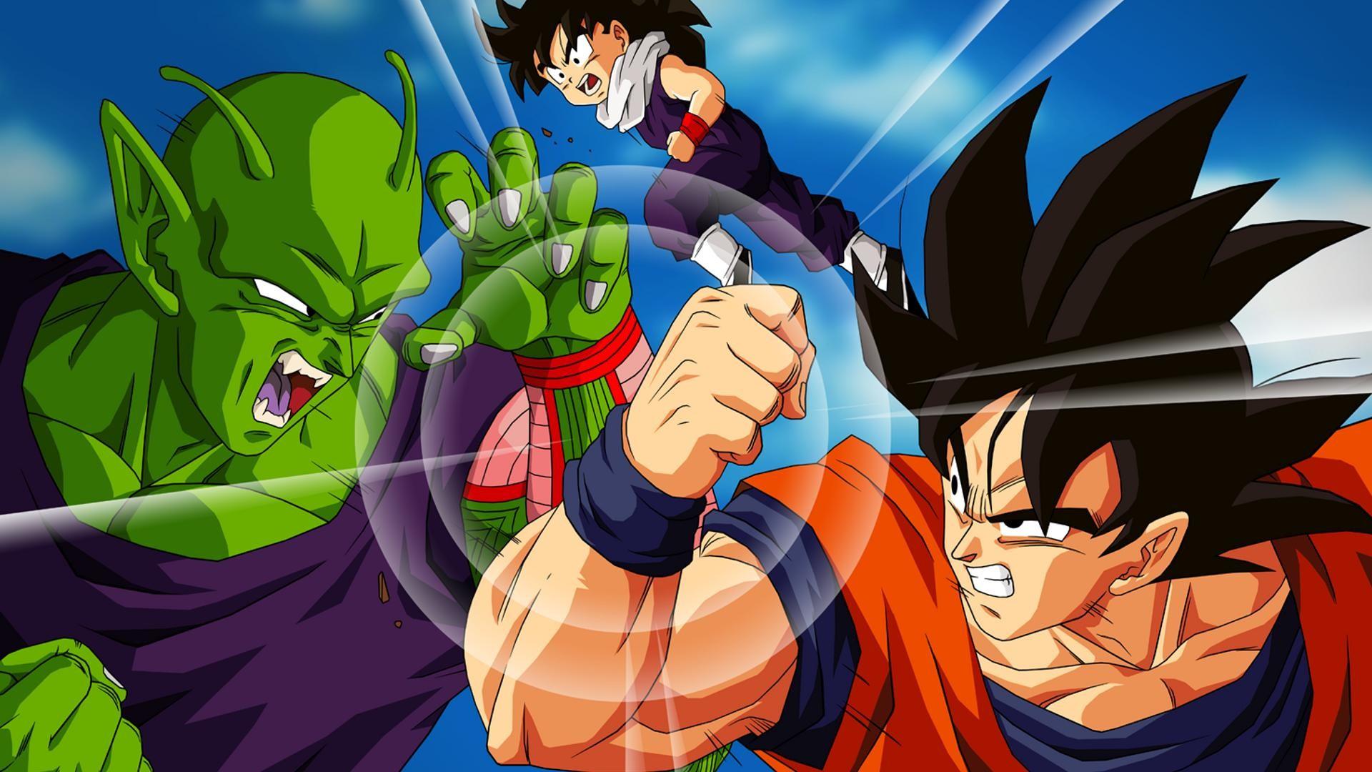 Papel De Parede Dbz Goku Versus Piccolo