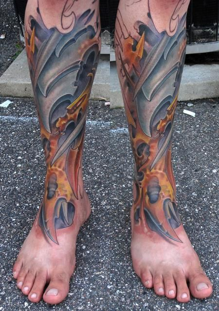 mejores tatuajes biomecánicos del mundo