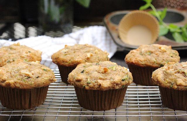 Small Batch Olive Zucchini Muffins