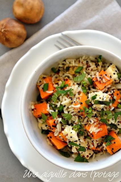 salade-riz-quinoa-patate douce-citron noir-Iran