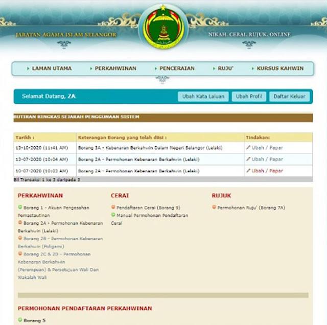 Borang 2A Kebenaran Berkahwin Lelaki Portal JAIS