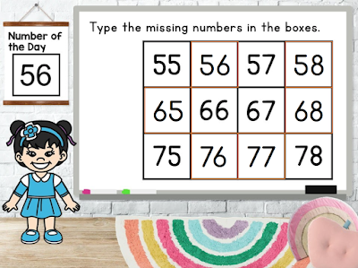 filling in missing numbers is a key number sense skill
