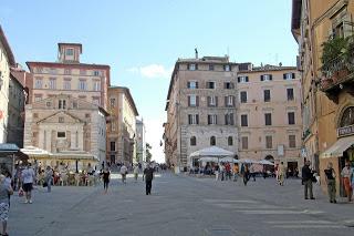 The Piazza della Repubblica is one of the main squares in Perugia
