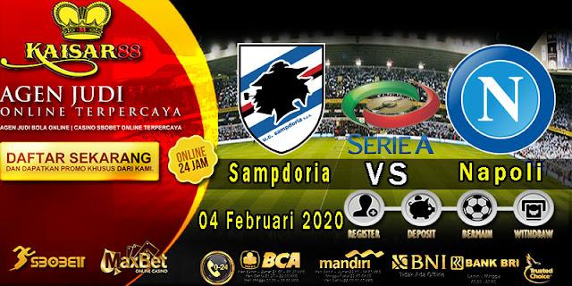 Prediksi Bola Terpercaya Liga Italia Sampdoria vs Napoli 04 Februari 2020