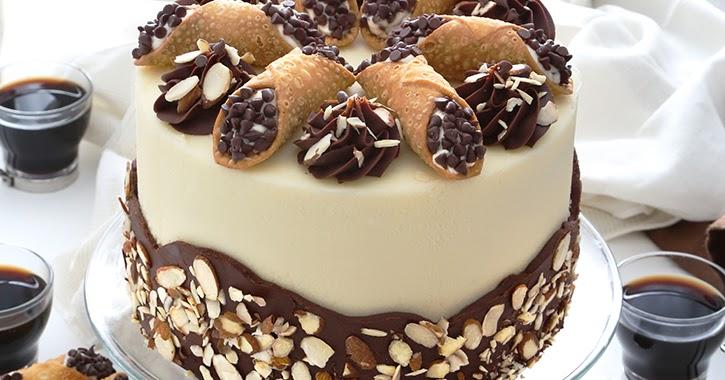 Cannoli Cake Sprinkle Bakes