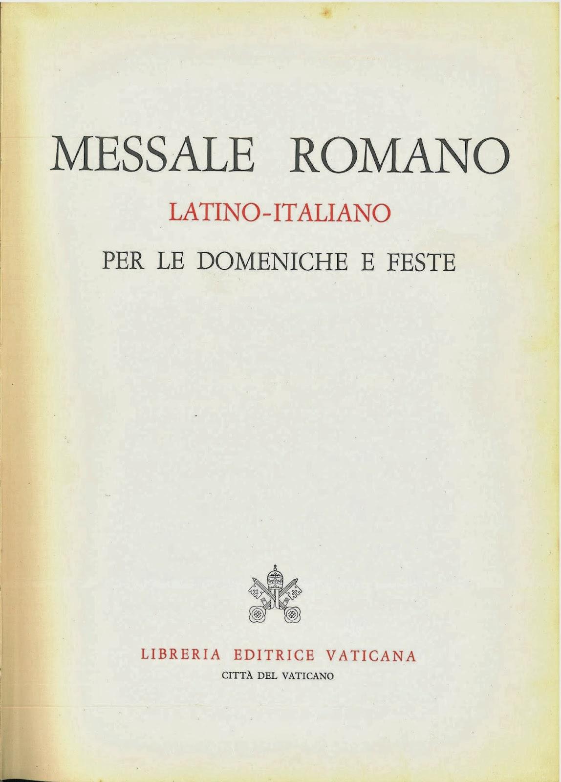 messale romano da