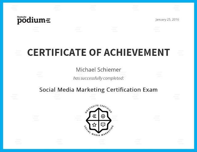 Michael Schiemer HootSuite Social Media Marketing Certified SMM Expert New England