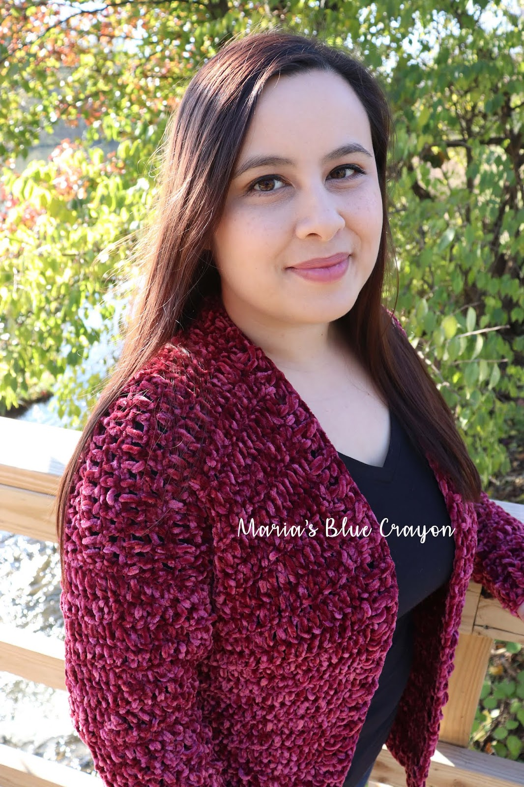 937b8302e The wonderful thing about this crochet velvet cardigan pattern is that it  is easy to make and uses only basic stitches and construction.