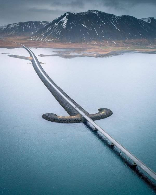Saber Bridge in Sneifellsnes National Park, Iceland