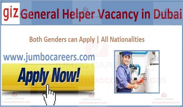 Available helpers jobs in UAE,