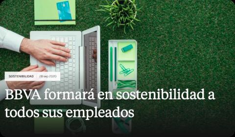 BBVA formará en sostenibilidad a todos sus empleados