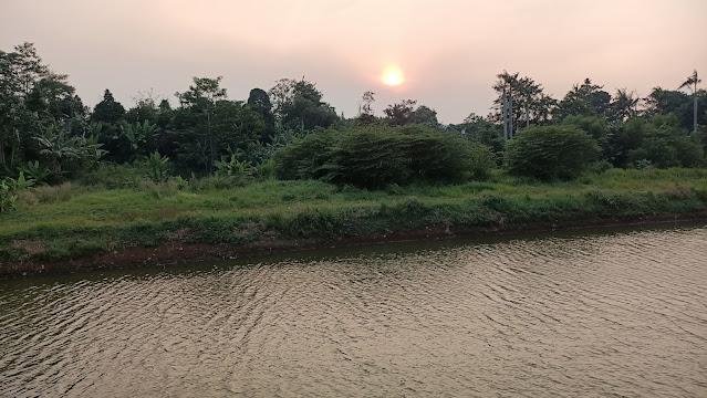 Sunset di Danau area U-Ville Bintaro