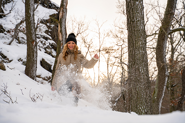Winterwandern in Bad Harzburg | Kleiner und Großer Burgberg und Besinnungsweg | Baumschwebebahn | Wandern im Harz