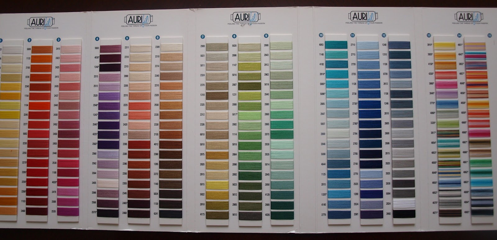 the second colour card is the aurifil thread a brilliant resource for quilters i have been struggling along with guterman thread and havent been happy - Aurifil Thread Color Chart