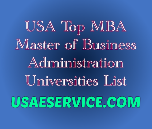 USA 50 States Top MBA Programs Universities Business School  in USA