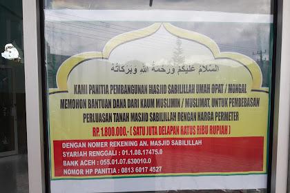 Pembebasan Lahan Masjid Sabilillah Umah Opat Mongal Aceh Tengah