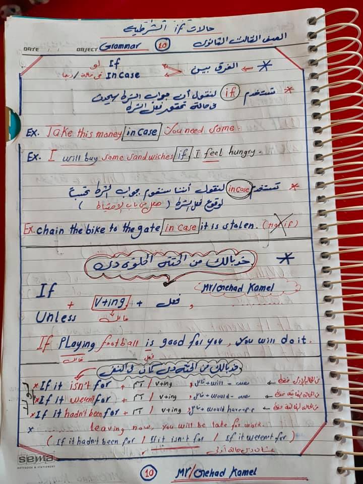 مراجعة اسلوب الشرط.. قاعدة if للصف الثالث الثانوي 10