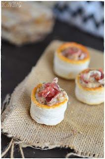 Tartaletas con paté de berberechos,  irresistibles bocados perfectos en 2 minutos!!-Desafío en a cocina- pate de mejillones- almejas- Navidad - 2018- aperitivo navideño- entrante navideño- de bocado - tartaleta de hojaldre- berberechos en lata-