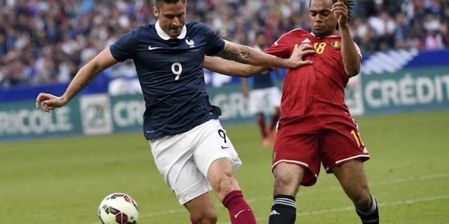 Jason Denayer intervient devant Olivier Giroud. Mais voir le Belge sous les couleurs de l'OM est une affaire mal embarquée.