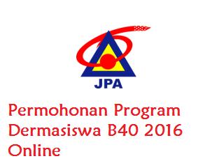 Permohonan biasiswa Dermasiswa B40 2016 Online