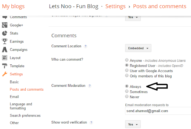 How To Configure The Settings Section Of Blogger?