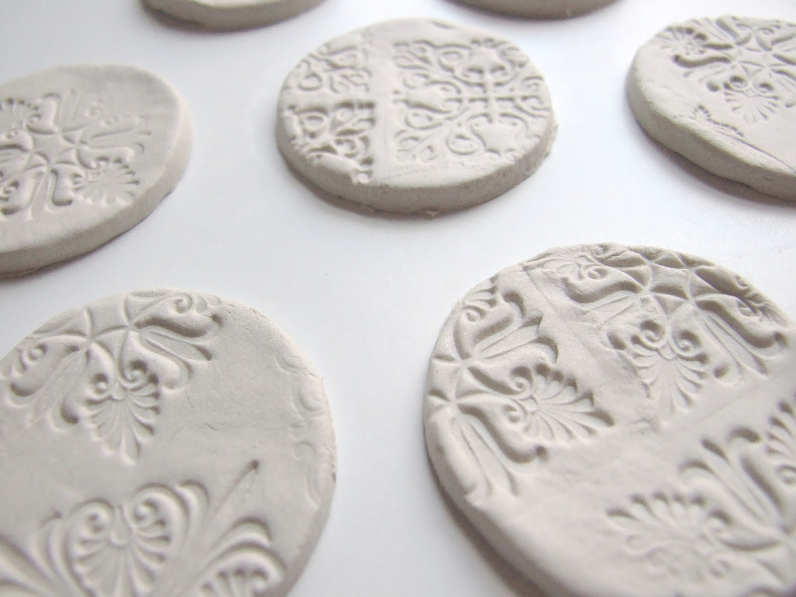Gathering Beauty Stamped Clay Magnets