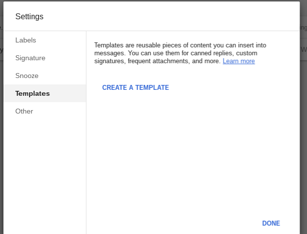 Inbox: Templates and Canned Responses
