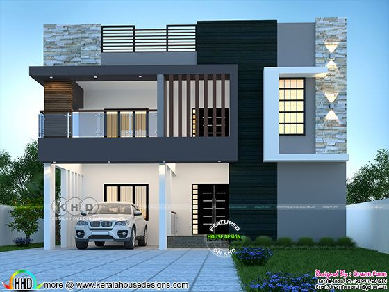 Flat roof style 6 bedroom duplex house