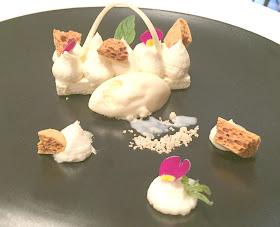 Honey Parfait With Lemon Curd Ice cream Jesmond Dene House