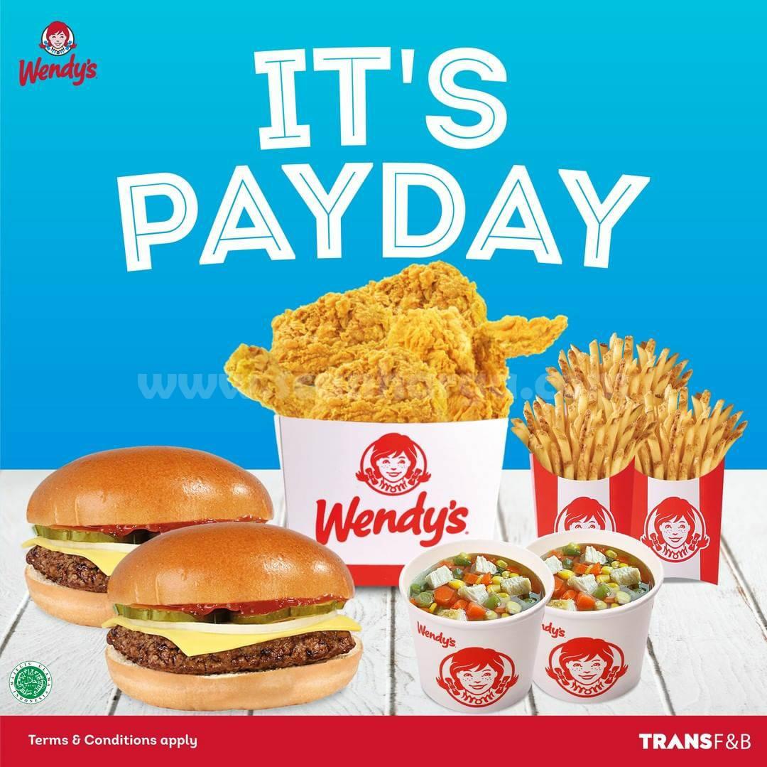WENDY'S Promo PAYDAY –  Harga Special Paket Menu Pilihan Hanya Rp 80.000*