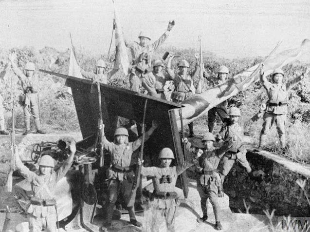 Japanese celebrate capture of Christmas Island on 31 March 1942 worldwartwo.filminspector.com