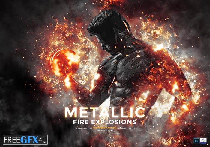 Metallic - Fire Explosion PS Action