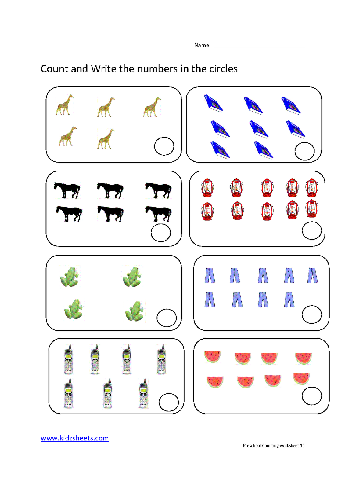 New 571 Counting Worksheets 1 20 Free