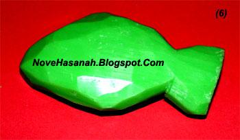 langkah-langkah cara membuat ukiran dari bahan sabun mandi batangan berbentuk ikan 6