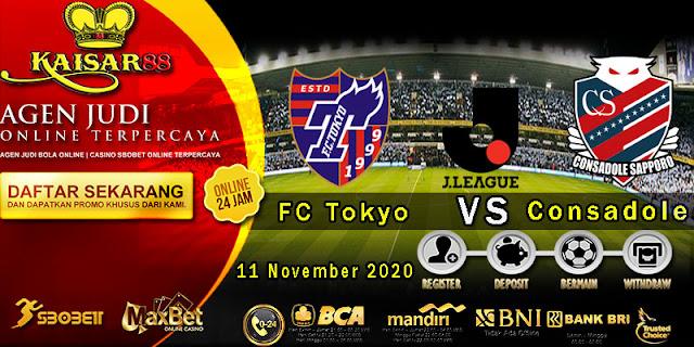 Prediksi Bola Terpercaya Liga J-League Tokyo Vs Consadole Sapporo 11 November 2020