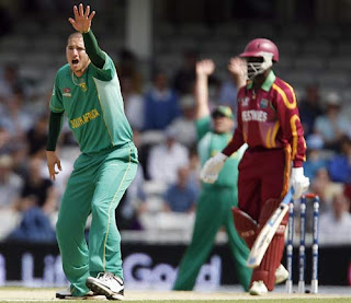 Wayne Parnell 4-13 - West Indies vs South Africa 17th Match ICC World T20 2009 Highlights