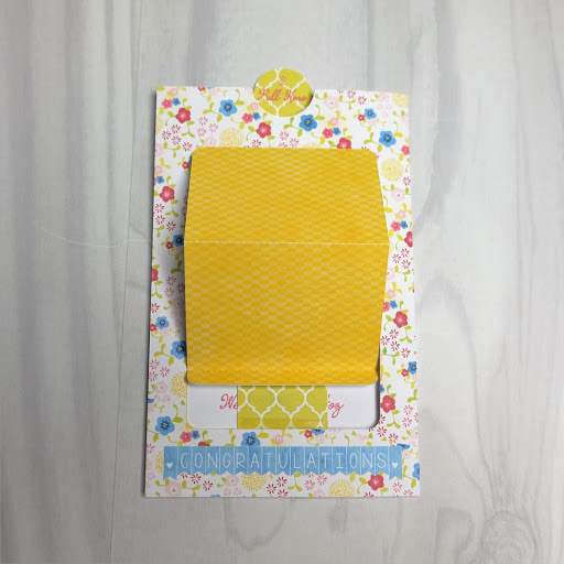 Pop up slider card assembly stage 5.  Tutorial by Nadine Muir for Silhouette UK Blog