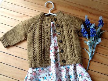 Velvet Acorn Baby Cardigan Knitting Pattern!