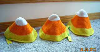 handmade halloween candy corn hats