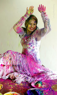 Bollywood Actress and Producer Neetu Chandra Special Po Shoot Gallery in a Dry Holi Celetion  0013.JPG