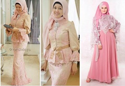 model baju pesta muslim orang gemuk