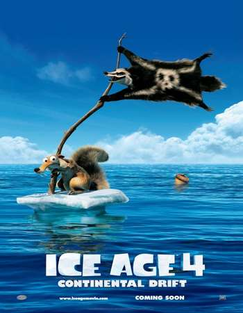 Poster Of Ice Age Continental Drift 2012 Dual Audio 120MB BRRip HEVC Mobile ESubs Free Download Watch Online Worldfree4u