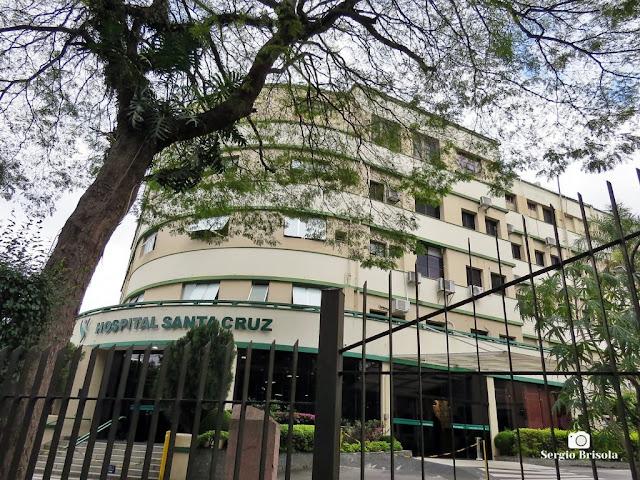 Vista ampla do Hospital Santa Cruz - Vila Mariana - São Paulo